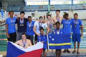 Curacao and Brno Swimming Club at the EU Swim 2015